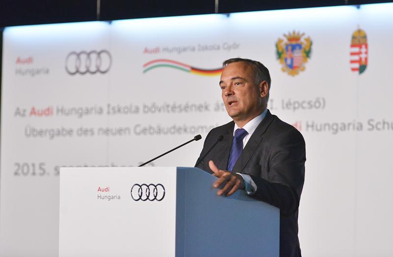 Átadták az Audi Hungaria Iskola első ütemét
