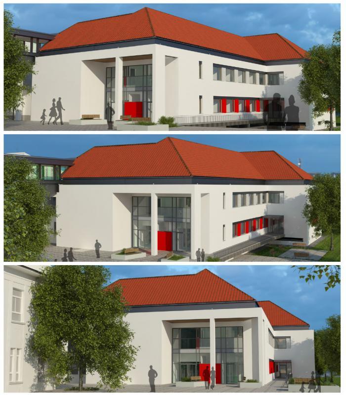 Csorna, Csornai Margit Kórház új járóbeteg rendelőintézet épület építése és kórházi belső átalakítás