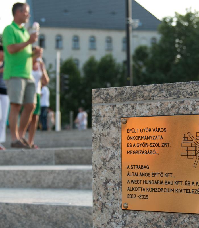 Győr Város Ezüst emlékérmet vehetett át a West Hungária Bau Kft munkatársa