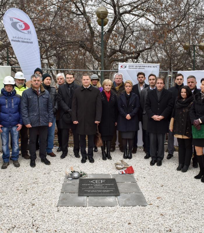 Megkezdődött a KEF új logisztikai és irányító központjának építése