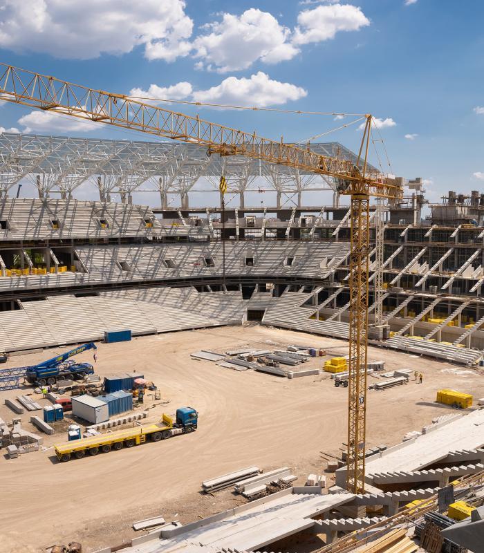 Puskás Ferenc Stadion építkezés