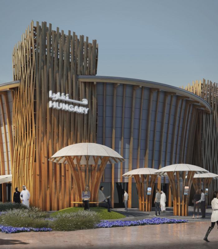 Makovecz stílusban épül meg Magyarország pavilonja Dubajban