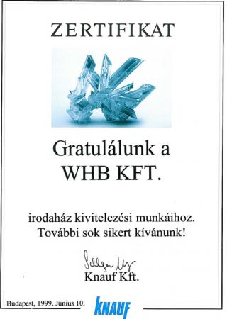 1999 Knauf Zertifikat