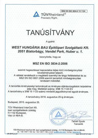 MSZ EN ISO 3834-2 2006